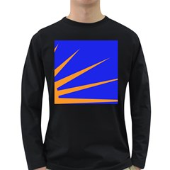 Sunburst Flag Long Sleeve Dark T-Shirts