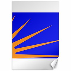 Sunburst Flag Canvas 12  x 18