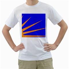 Sunburst Flag Men s T-Shirt (White)