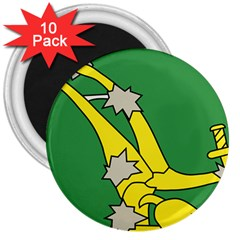 Starry Plough Flag  3  Magnets (10 pack)