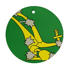 Starry Plough Flag  Round Ornament (Two Sides)