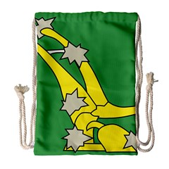 Starry Plough Flag  Drawstring Bag (large)