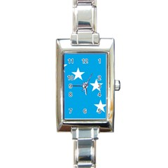 Starry Plough Flag Rectangle Italian Charm Watch