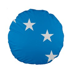 Starry Plough Flag Standard 15  Premium Round Cushions
