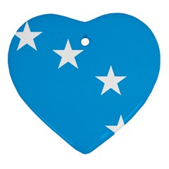 Starry Plough Flag Heart Ornament (Two Sides)