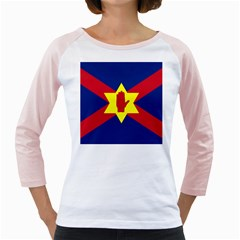 Flag of the Ulster Nation Girly Raglans