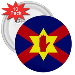 Flag of the Ulster Nation 3  Buttons (10 pack)