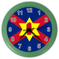 Flag of the Ulster Nation Color Wall Clocks