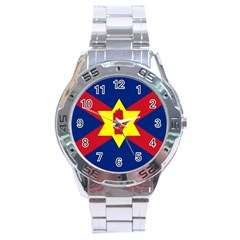 Flag of the Ulster Nation Stainless Steel Analogue Watch