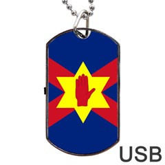 Flag of the Ulster Nation Dog Tag USB Flash (One Side)
