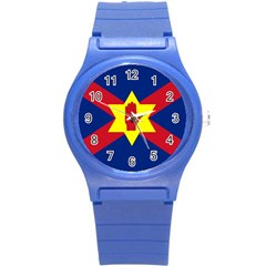 Flag of the Ulster Nation Round Plastic Sport Watch (S)