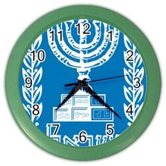 Emblem of Israel Color Wall Clocks