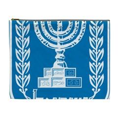 Emblem of Israel Cosmetic Bag (XL)