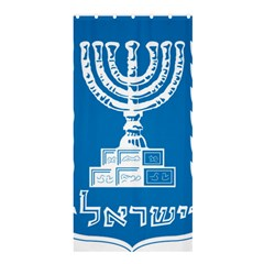 Emblem of Israel Shower Curtain 36  x 72  (Stall)