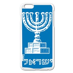 Emblem of Israel Apple iPhone 6 Plus/6S Plus Enamel White Case