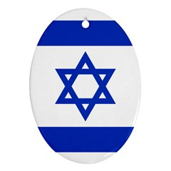 Flag of Israel Ornament (Oval)
