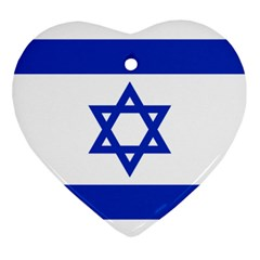 Flag of Israel Ornament (Heart)