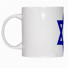 Flag of Israel White Mugs