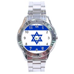 Flag of Israel Stainless Steel Analogue Watch