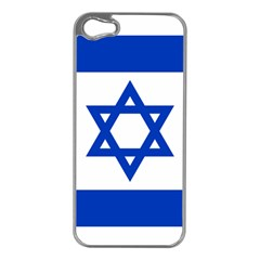 Flag of Israel Apple iPhone 5 Case (Silver)