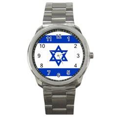 Flag of Israel Sport Metal Watch