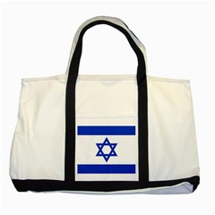 Flag of Israel Two Tone Tote Bag