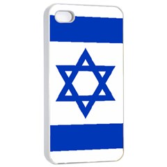 Flag of Israel Apple iPhone 4/4s Seamless Case (White)