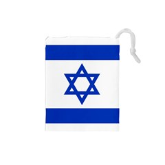 Flag Of Israel Drawstring Pouches (small)