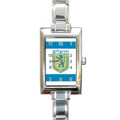 Flag of Jerusalem Rectangle Italian Charm Watch