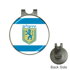 Flag of Jerusalem Hat Clips with Golf Markers