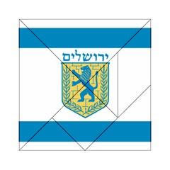 Flag of Jerusalem Acrylic Tangram Puzzle (6  x 6 )