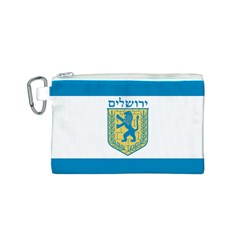 Flag of Jerusalem Canvas Cosmetic Bag (S)
