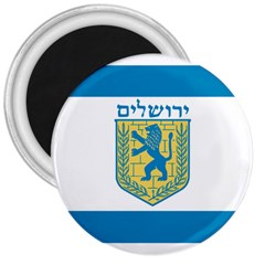 Flag of Jerusalem 3  Magnets
