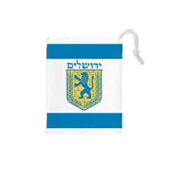 Flag Of Jerusalem Drawstring Pouches (small)