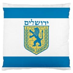 Flag of Jerusalem Large Flano Cushion Case (Two Sides)