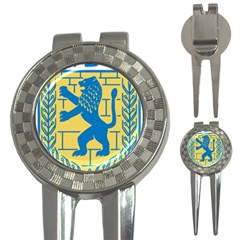 Coat of Arms of Jerusalem 3-in-1 Golf Divots