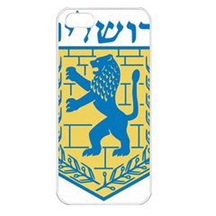 Coat of Arms of Jerusalem Apple iPhone 5 Seamless Case (White)