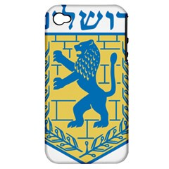 Coat of Arms of Jerusalem Apple iPhone 4/4S Hardshell Case (PC+Silicone)