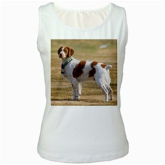 Brittany Spaniel Full Women s White Tank Top