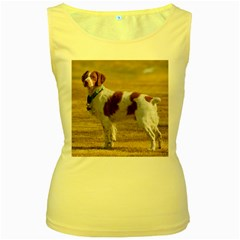 Brittany Spaniel Full Women s Yellow Tank Top