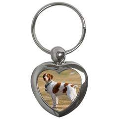 Brittany Spaniel Full Key Chains (Heart)