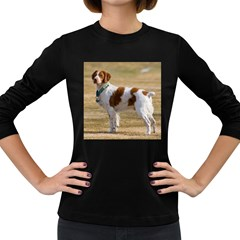 Brittany Spaniel Full Women s Long Sleeve Dark T-Shirts