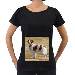 Brittany Spaniel Full Women s Loose-Fit T-Shirt (Black)