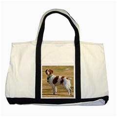 Brittany Spaniel Full Two Tone Tote Bag