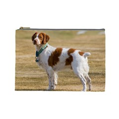 Brittany Spaniel Full Cosmetic Bag (Large)