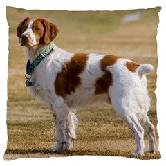 Brittany Spaniel Full Large Cushion Case (Two Sides)