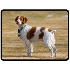 Brittany Spaniel Full Double Sided Fleece Blanket (Large)