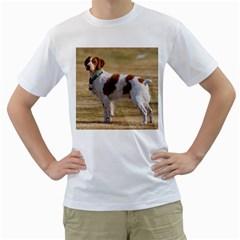 Brittany Spaniel Full Men s T-Shirt (White)