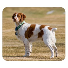 Brittany Spaniel Full Double Sided Flano Blanket (Small)