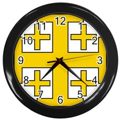 Jerusalem Cross Wall Clocks (Black)